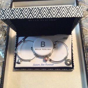 Set of three Sister Silver Bracelets